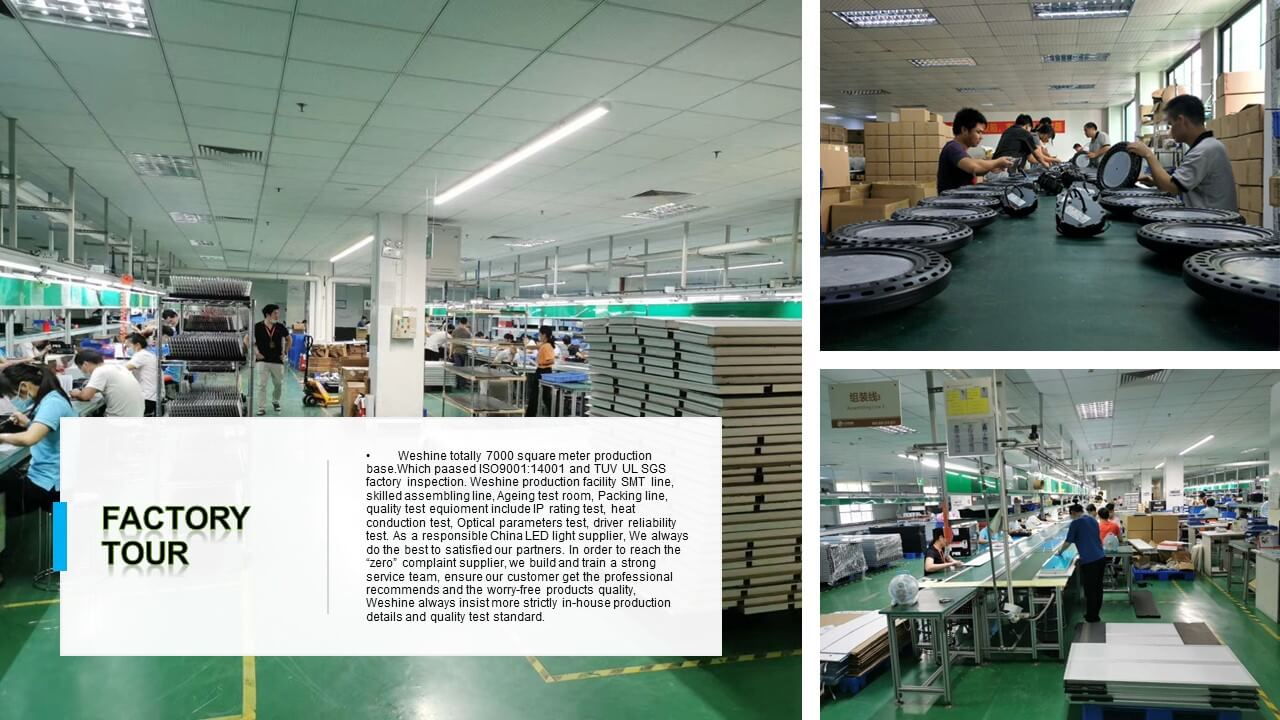 Weshine LED light production line